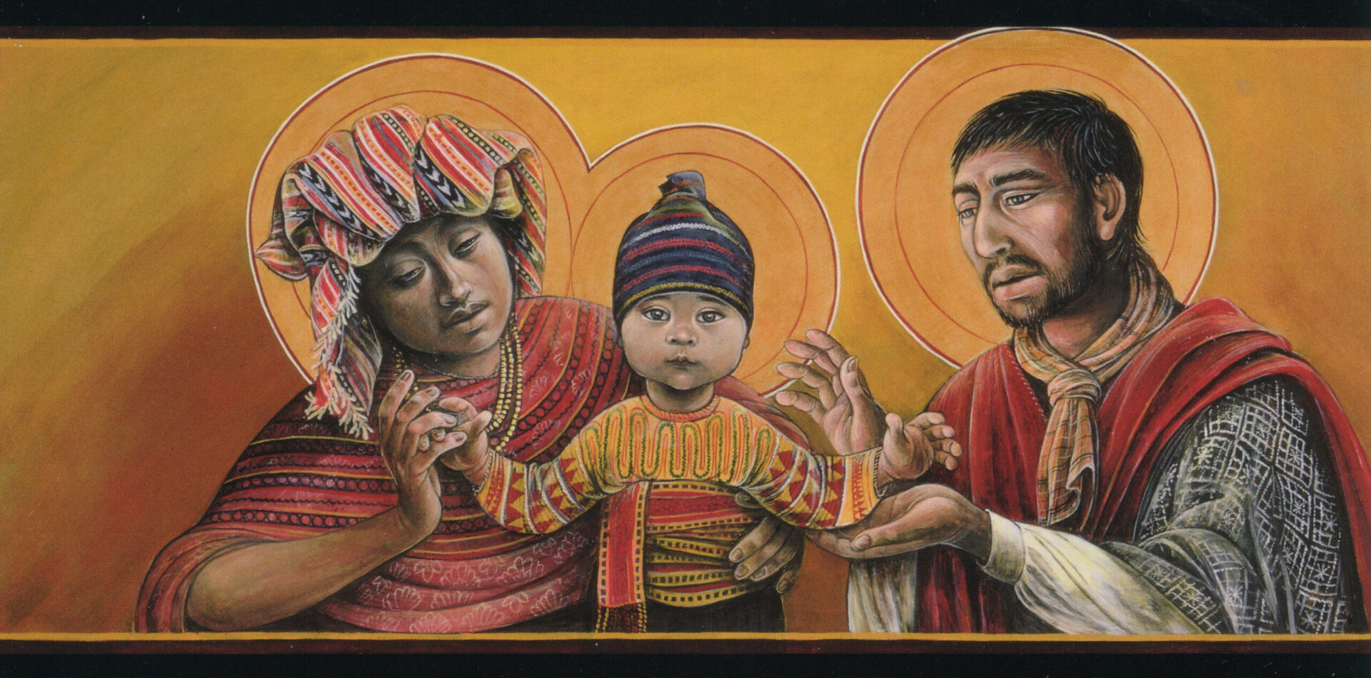 Guatamalan Holy Family Native American Art by Fr. John Giuliani