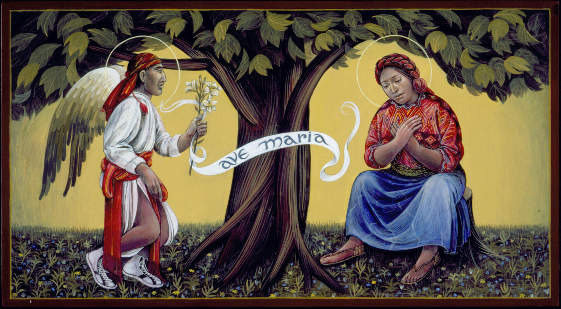 Guatemalan Annunciation Native American Art by Fr. John Giuliani