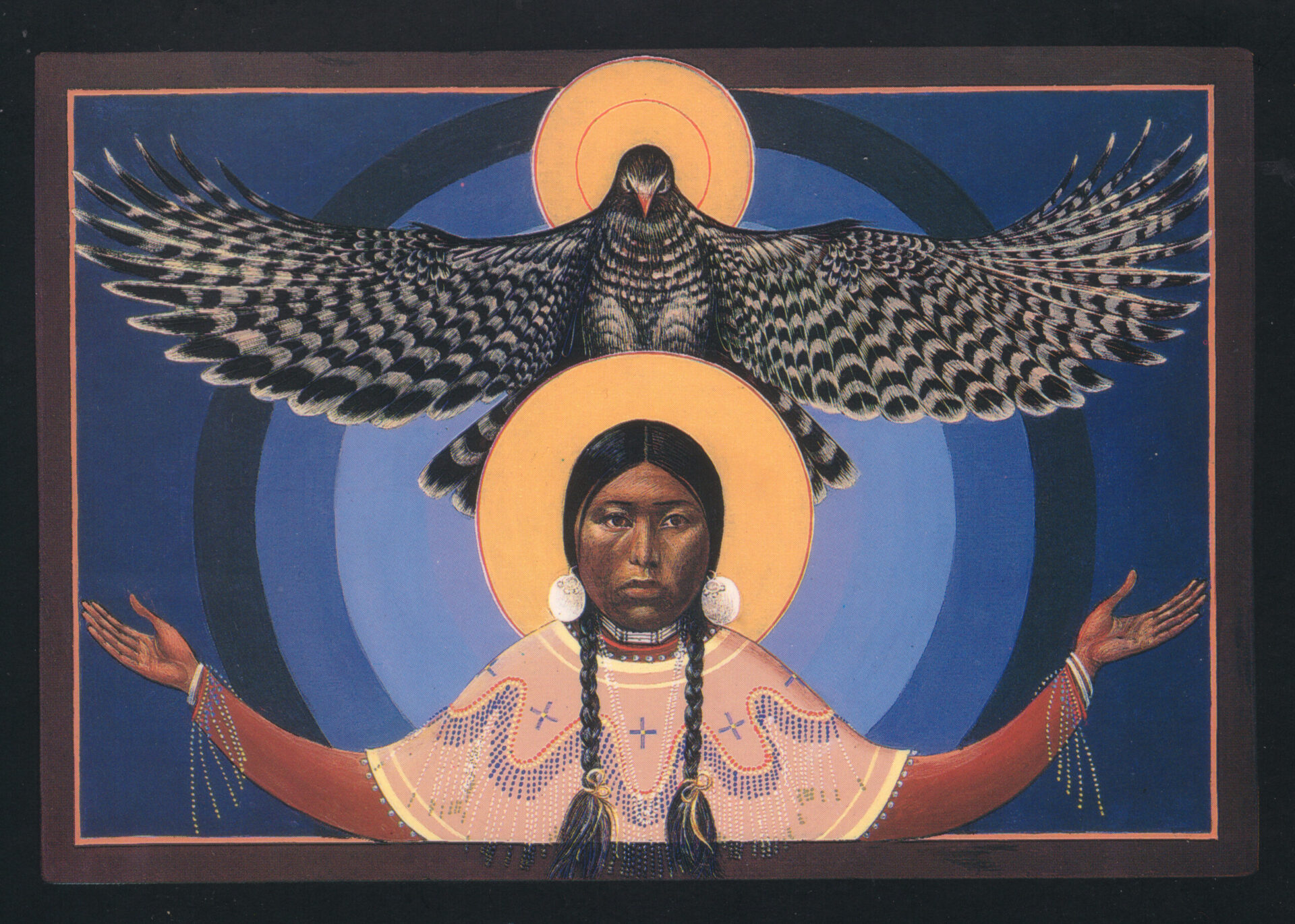 Lakota Annunciation Native American Art by Fr. John Giuliani