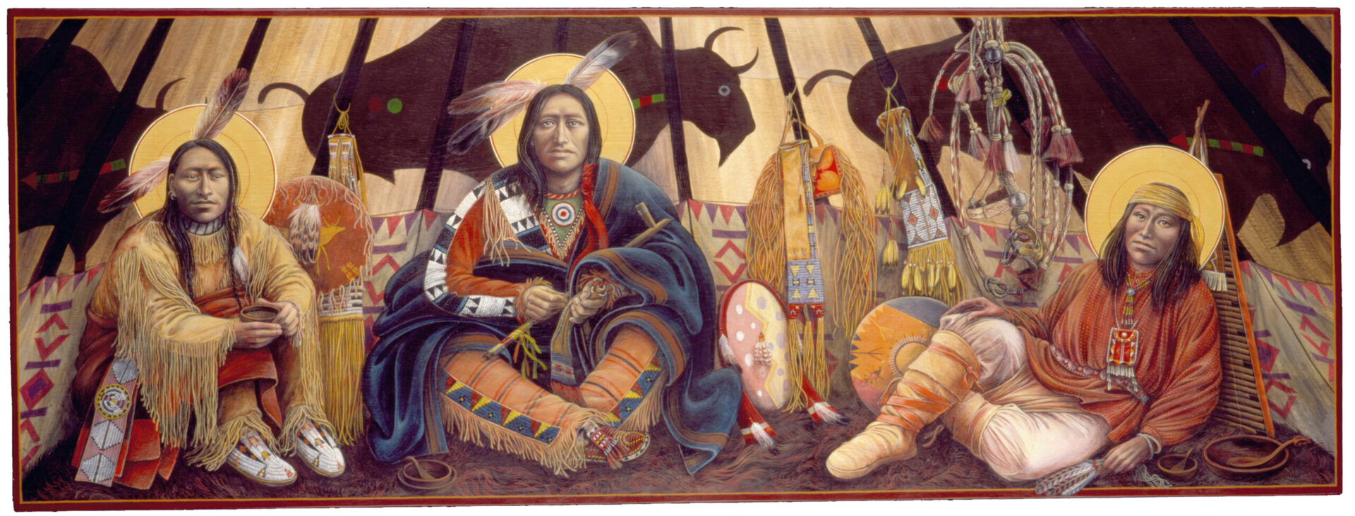 The Tent at Mamre Native American Art by Fr. John Giuliani