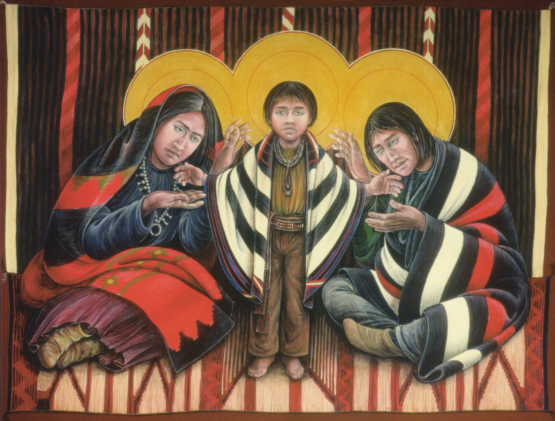 Navajo Holy Family Native American Art by Fr. John Giuliani