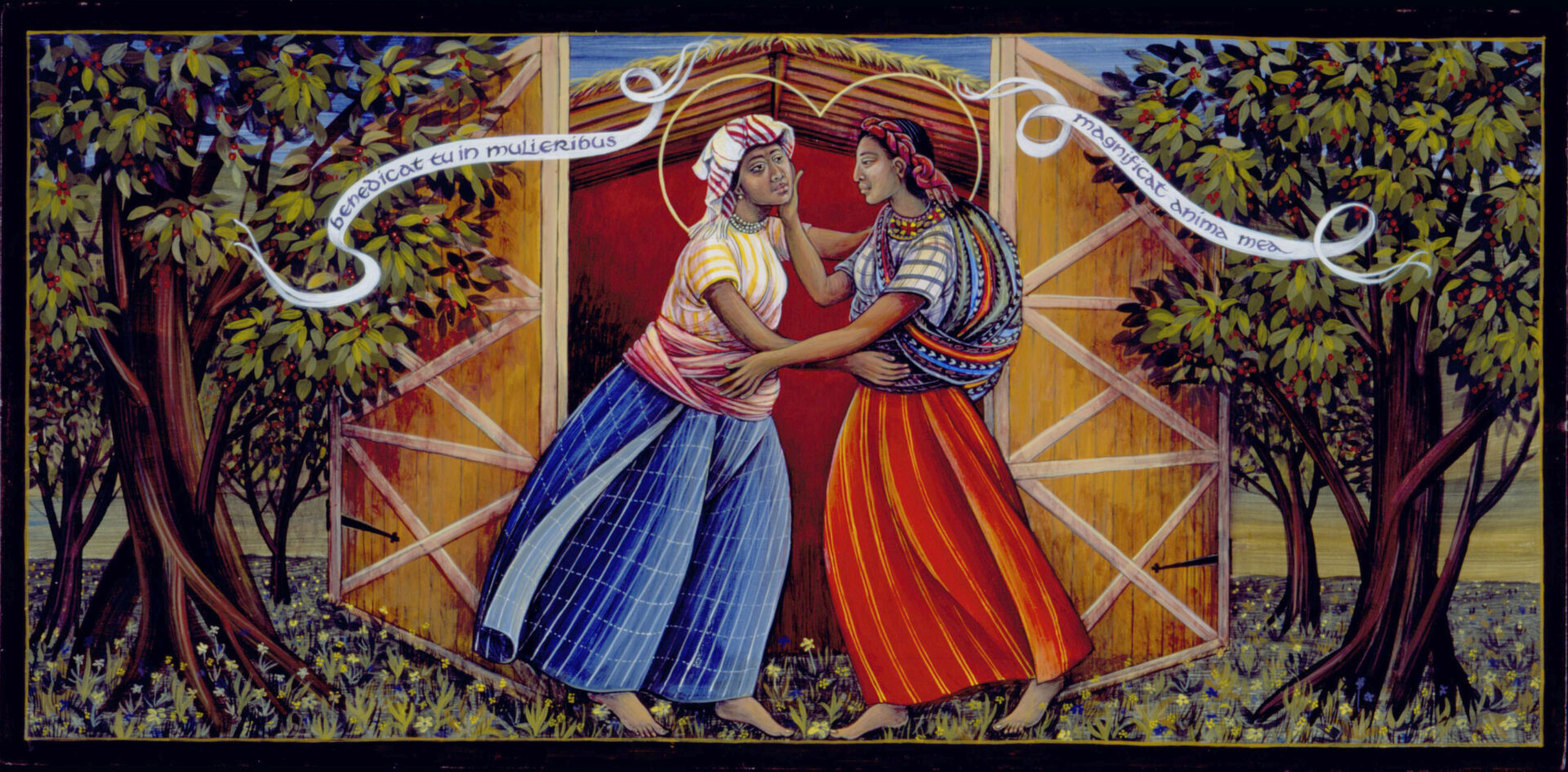 The Visitation Native American Art by Fr. John Giuliani