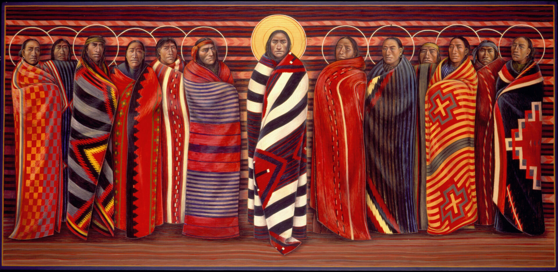 Jesus and the diciples Native American Art by Fr. John Giuliani