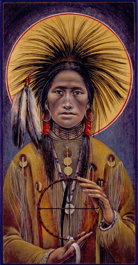 Crow Michael #20 Sacred Art by Fr. John B. Giuliani