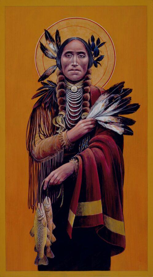 Crow Saint Raphael #78 Sacred Art by Fr. John B. Giuliani