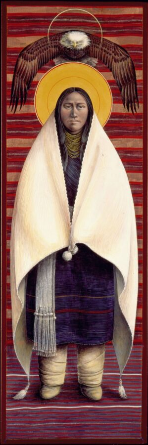 Hopi Annunciation #46 Sacred Art by Rev. Fr. John B. Giuliani