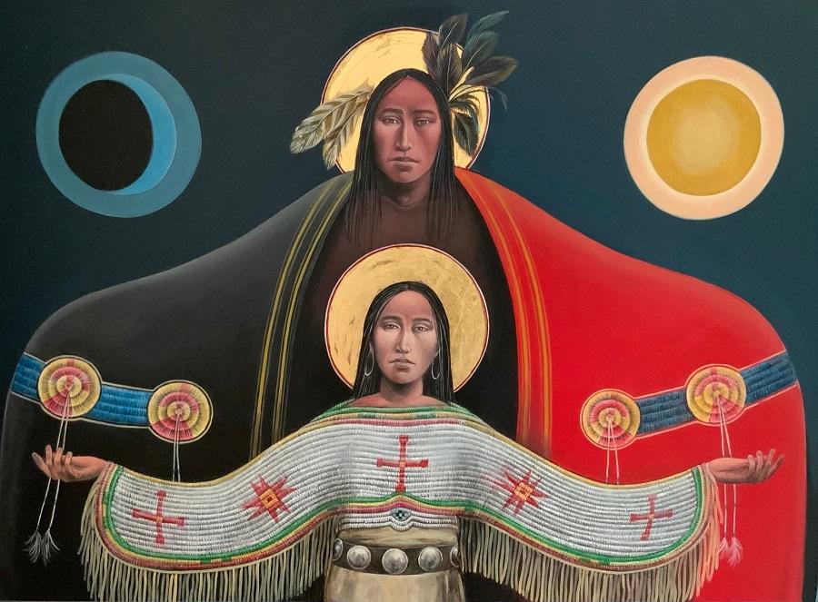 Lakota Annunciation III #17 Sacred Art by Fr. John B. Giuliani